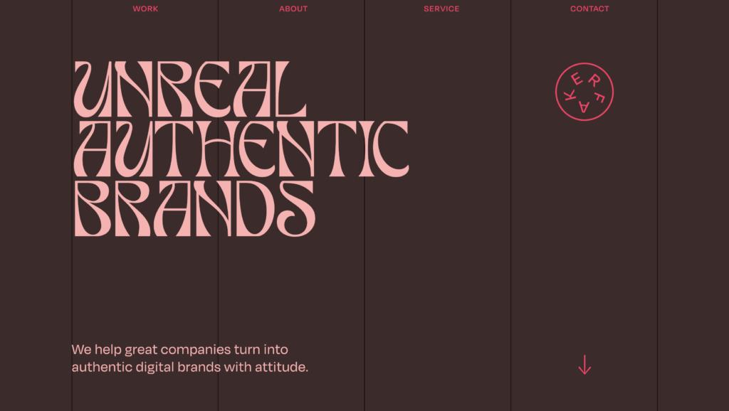 """Homepage del sito di """"Faker Agency"""""""